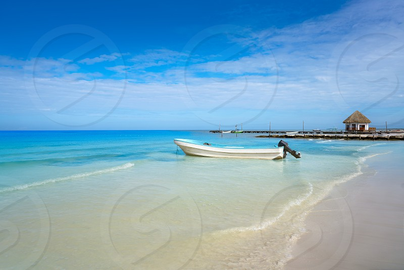 Holbox tropical Island in Quintana Roo of Mexico photo
