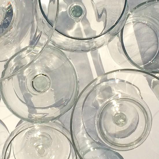 Glasses in light photo