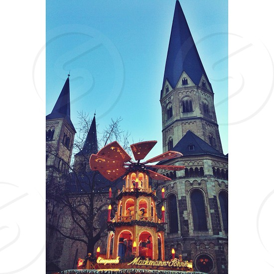 #bonn#germany#christmasmarket#church#sunset photo