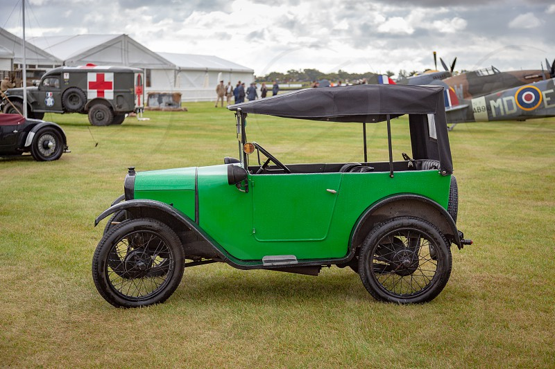 Austin Seven Parked on the Airfield at the Goodwood Revival photo