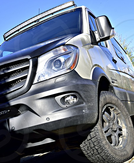 Adventure mobile van camping outdoor recreation four wheel drive off road. photo