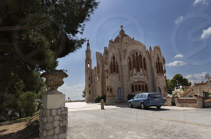 Novelda Spain. September 26 2017: Sanctuary of Maria Magdalena in Novelda province of Alicante in Spain. photo