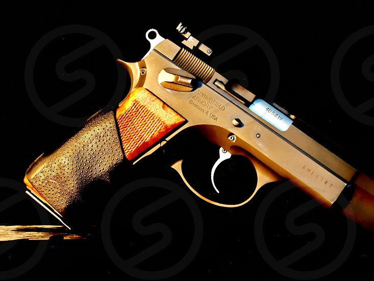 gray semi-automatic pistol photo