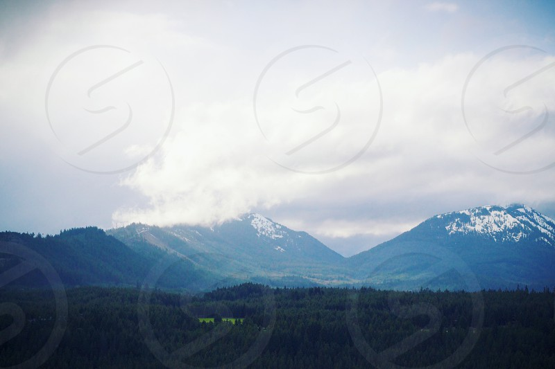 mountains and clouds photo