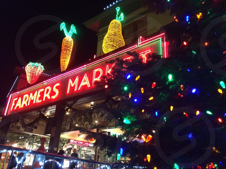 Pike Place Market at Christmas photo
