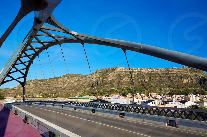 Cullera bridge over Xuquer Jucar river of Valencia at Spain photo