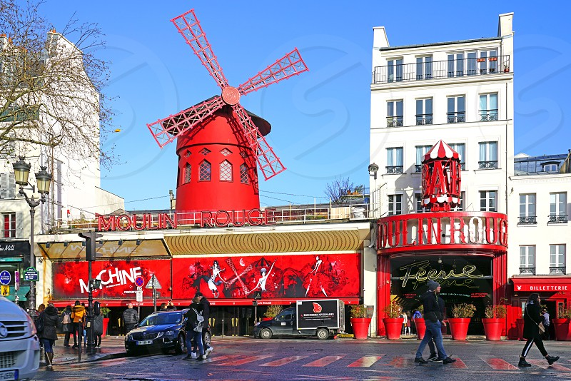 The Moulin Rouge in Paris France photo