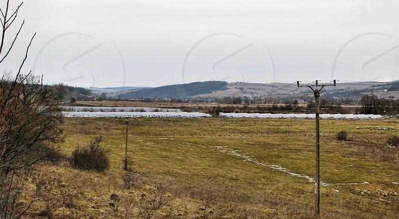 Solar fotovoltaic panels field 3MW - Hosman village Sibiu county Romania 400m 24-01-2014 photo