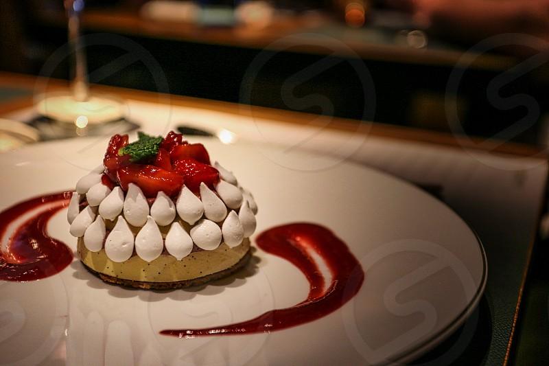 sweets cakes strawberry dessert restaurant photo