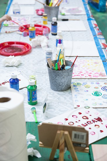 kids painting and drawing photo