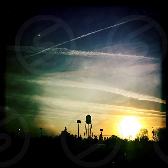 WASCO California water tower sillohet.  photo