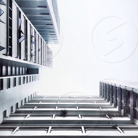 white high rise building scenery photo