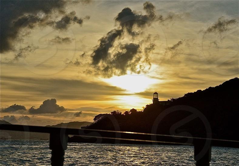 Sunset lighthouse  photo