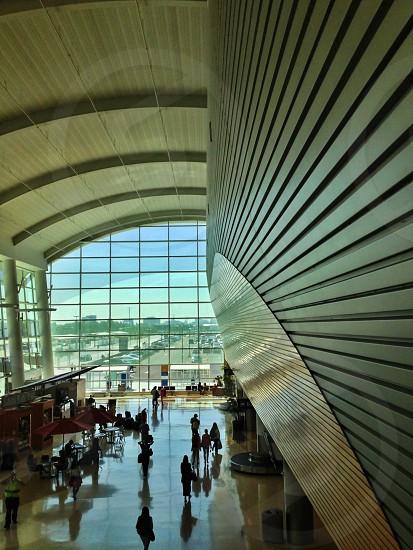 Architecture: Airport terminal arrivals and departures. Color version.  photo