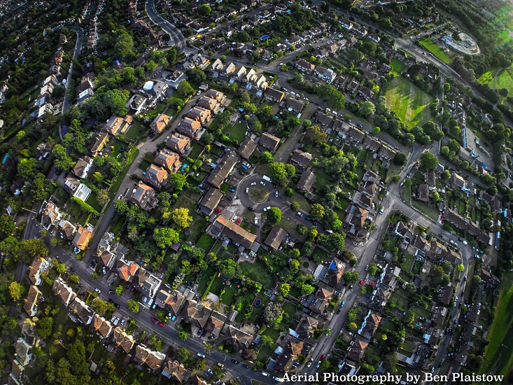 A Neighbourhood in Mill Hill - London. Shot from above  photo