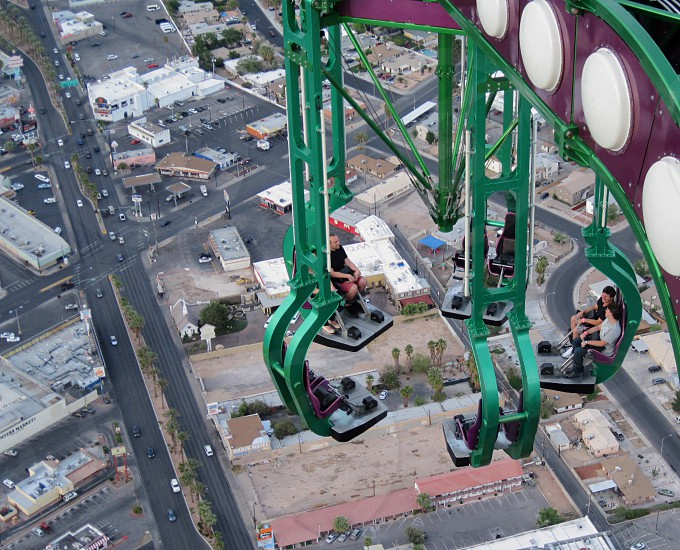 World's Highest Thrill ride on top of stratosphear tower in Las Vegas. Insanity photo