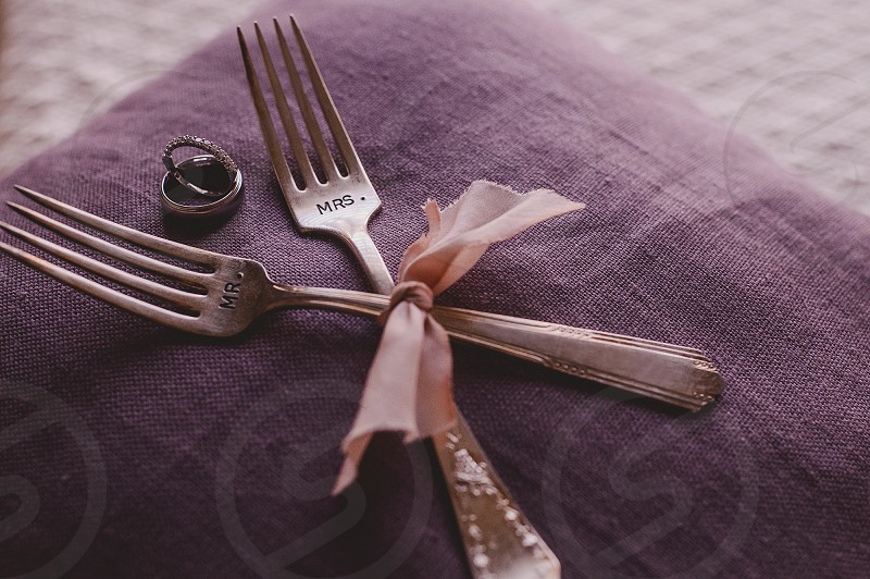 Wedding Details in Purple photo