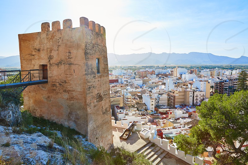 Cullera Torre de la Reina Mora tower in Valencia of Spain photo