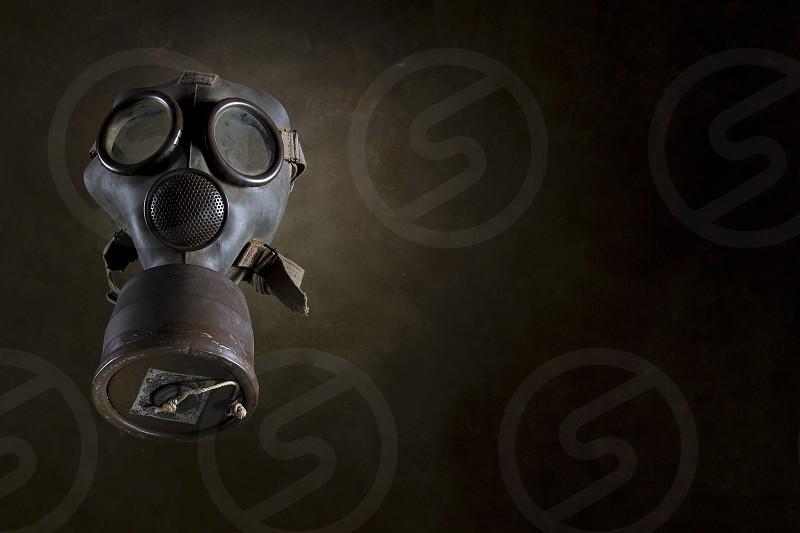 Old gas mask of World War II photo