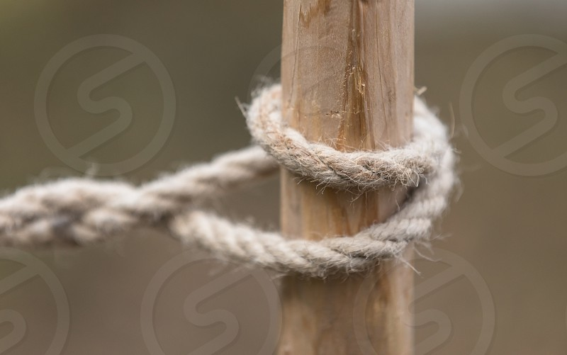 Close up of a rope photo