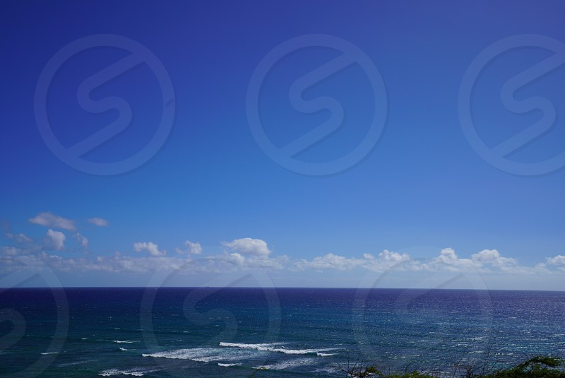 Beach diamondhead ocean water pacific ocean photo