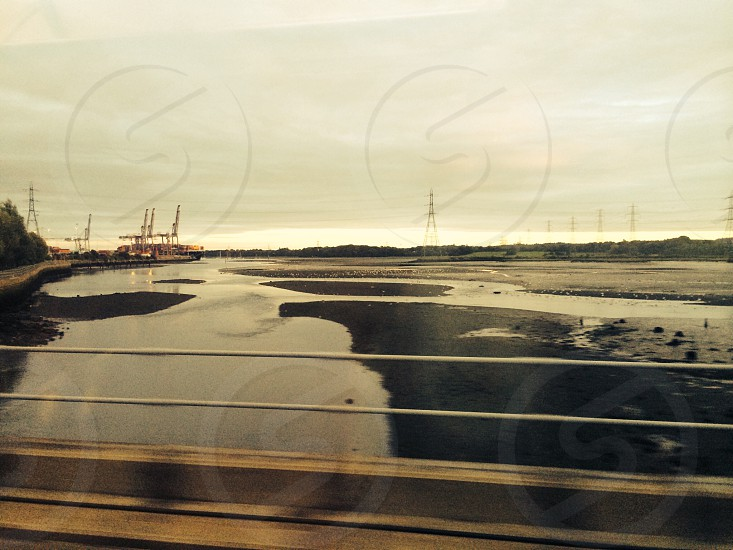 Southampton docks from the west entry by train. photo
