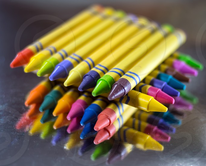 abstract crayons still life photo