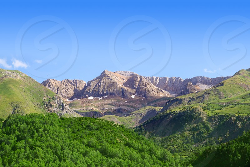 Pyrenees peaks Panticosa scenics Huesca Aragon spain photo