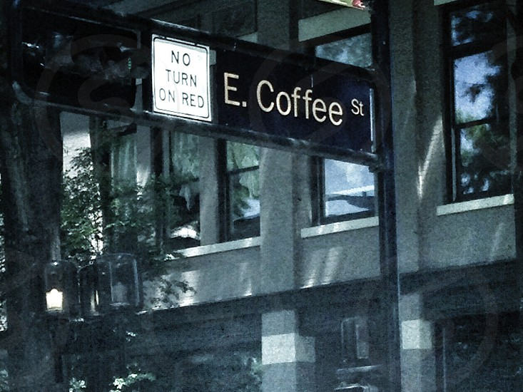 e coffee st street sign photo