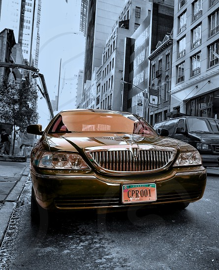 Cool car at the streets of New York photo