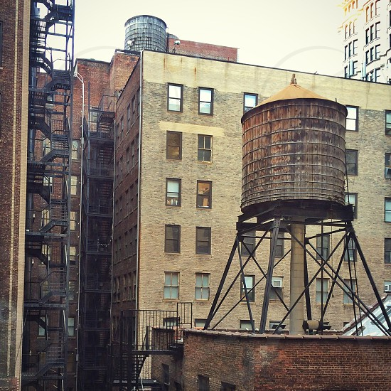 New York City water tower buildings apartments photo