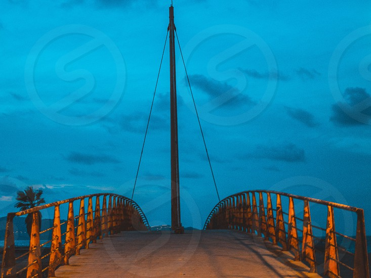 Lonely bridge in the ciry of HERAKLION photo