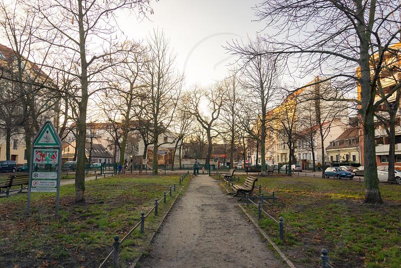 Scene around Richardplatz inside Neukolln Neighborhood in Berlin Germany photo
