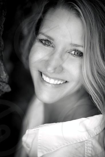 happy beautiful woman photo