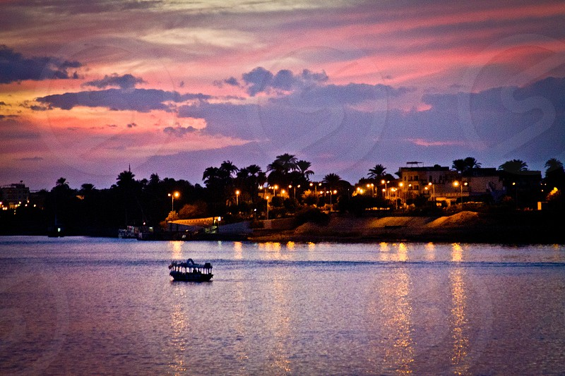 Nile at twilight photo