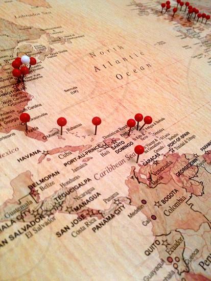 Pinboard map photo