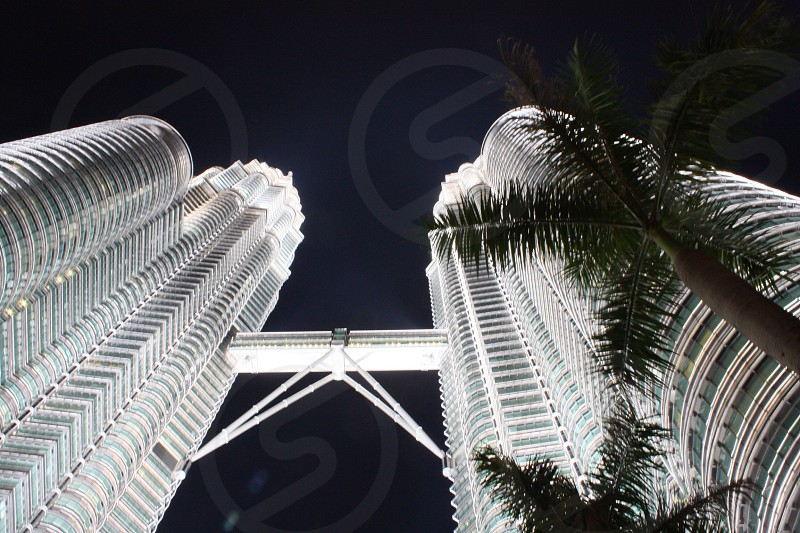 worm's eye view of high-rise buildings photo