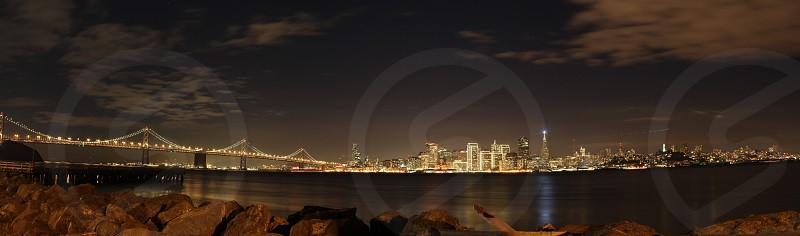 San Francisco Bay night view  photo