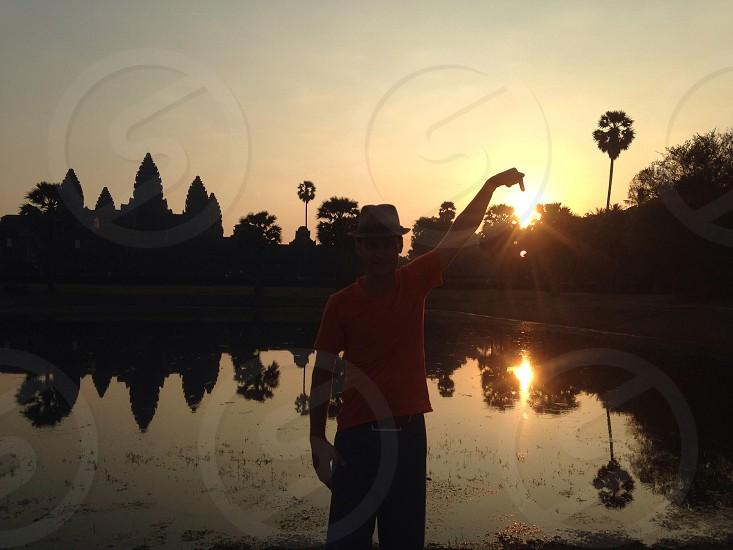 Sunrise at Ankor Wat Cambodia.  photo