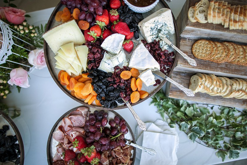 Foods with cheese photo
