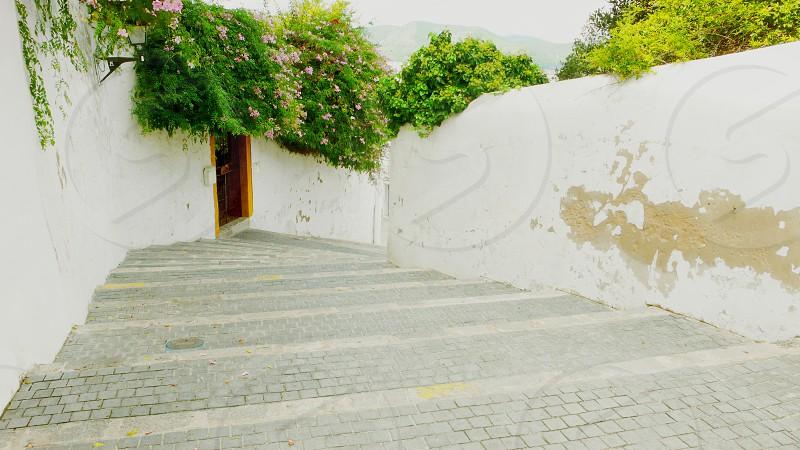 Old steps in Ibiza Town (Eivissa Pityusic Islands) photo