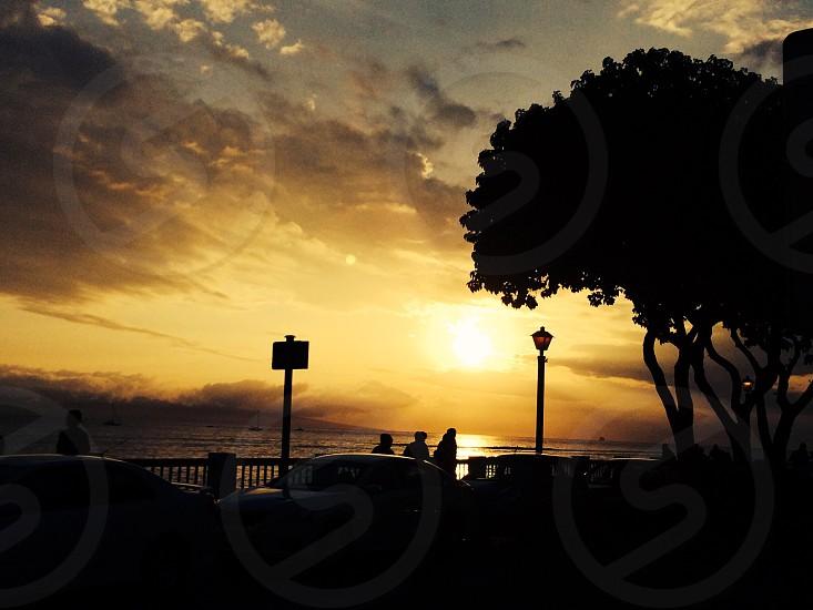 Sunset Front Street Maui Hawaii photo
