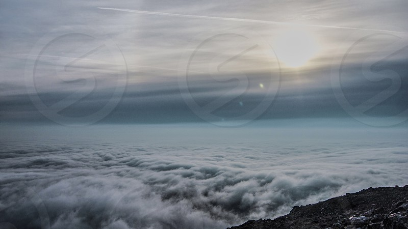 sea of clouds during sunrise photo