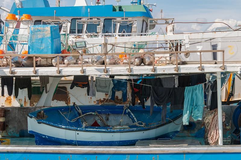 Deck of a fishing ship Cyprus Limassol photo