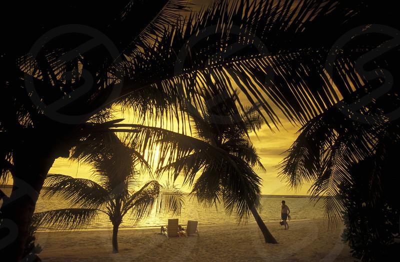Der Strand im Abendlicht auf der Insel Helengeli im Northmale  Atoll auf den Inseln der Malediven im Indischen Ozean.    photo