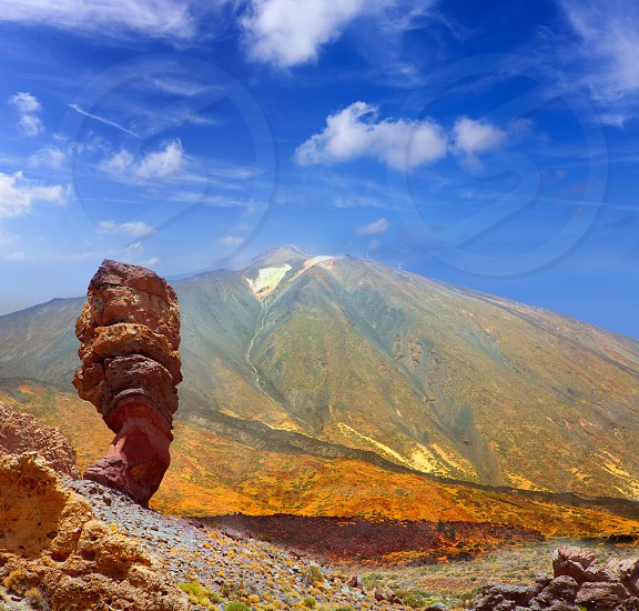 Teide National Park Roques de Garcia in Tenerife at Canary Islands photo