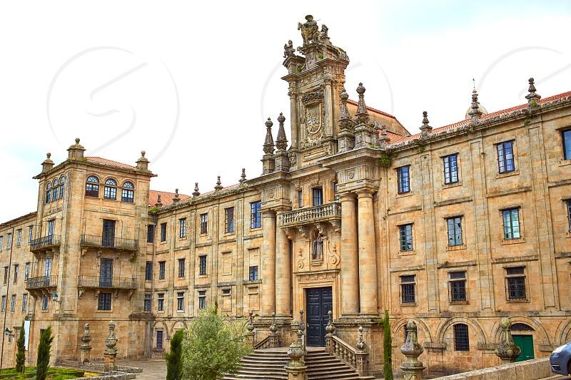 Santiago de Compostela end of Saint James Way San Matino Pinario monastery in Galicia Spain photo