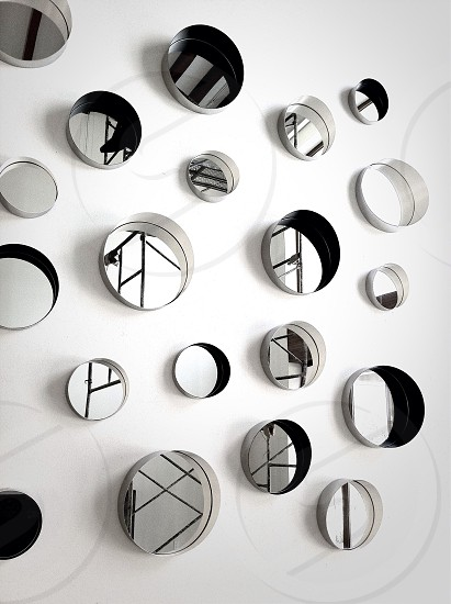 round wall decor photo