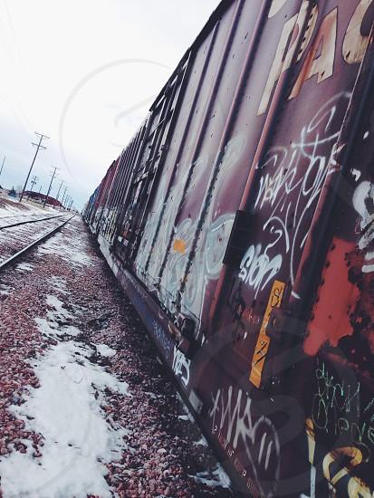 Train graffiti street art grunge decay urban photo