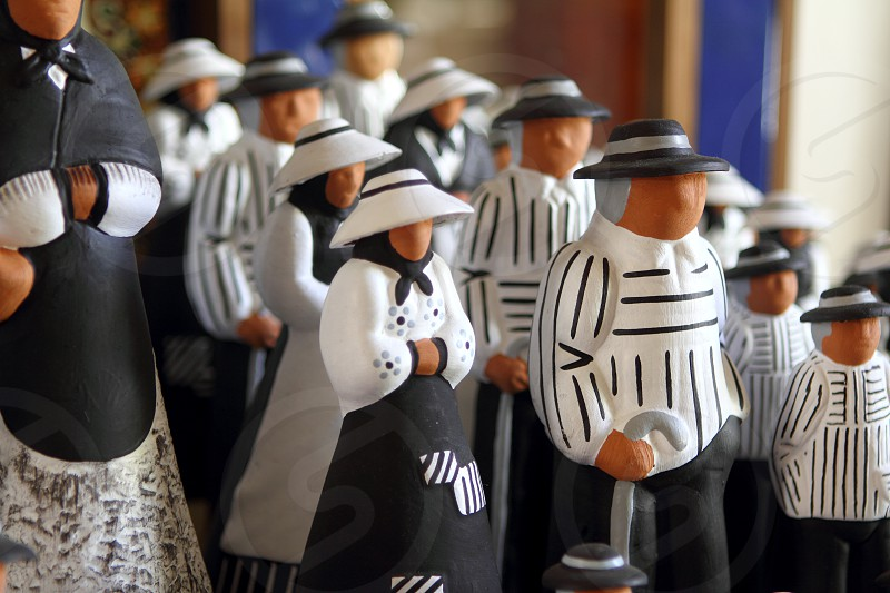 handcraft figurines balearic islands payes traditional clay art photo